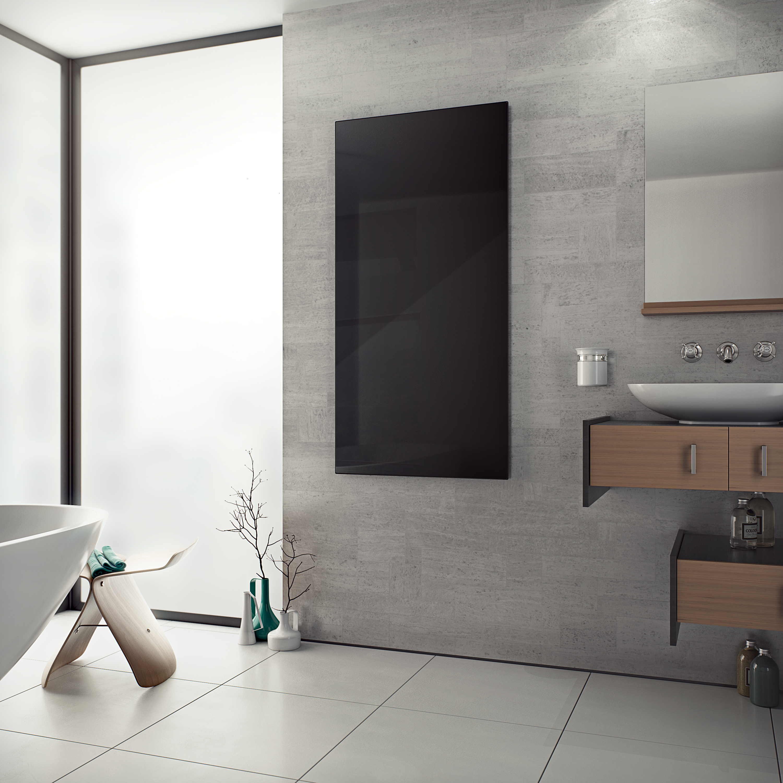 infrarot glas schwarz infrarot heizpaneele produkte corpotherma. Black Bedroom Furniture Sets. Home Design Ideas
